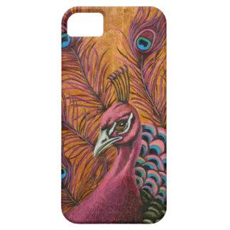 Capa Para iPhone 5 Pavão cor-de-rosa