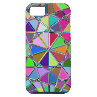 Capa Para iPhone 5 Pedra de gema tirada Kaleidescope colorida
