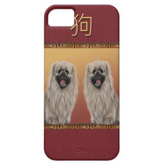 Capa Para iPhone 5 Pekingese no ano novo chinês do design asiático,