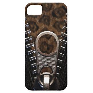 Capa Para iPhone 5 Pele Zippered do impressão do leopardo