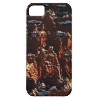 Capa Para iPhone 5 penhascos da rocha vermelha da neve