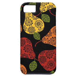 Capa Para iPhone 5 Peras bonitos bonitas, amarelo, laranja, marrom