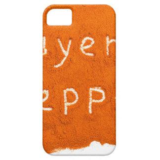 Capa Para iPhone 5 Pimenta de caiena da palavra escrita no pó