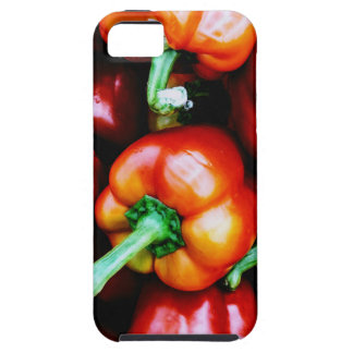 Capa Para iPhone 5 Pimentas de Bell vermelhas