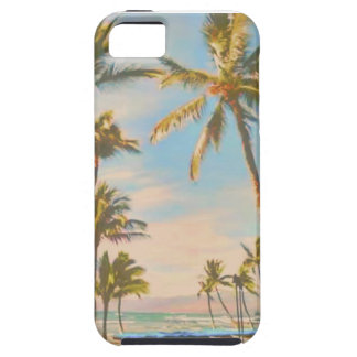 Capa Para iPhone 5 Praia do hawaiian do vintage de PixDezines