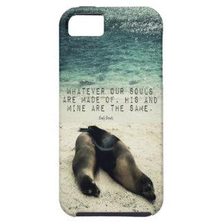 Capa Para iPhone 5 Praia romântica Emily Bronte das citações do casal