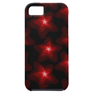 Capa Para iPhone 5 Preto vermelho 4 da estrela