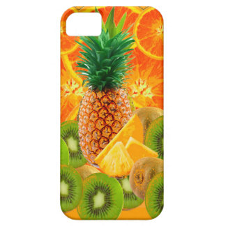 Capa Para iPhone 5 QUIVI HAVAIANO tropical das FATIAS do ABACAXI & da