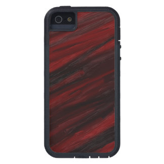 Capa Para iPhone 5 Raias diagonais vermelhas e pretas