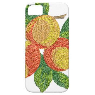Capa Para iPhone 5 ramo do pêssego, imitação do bordado
