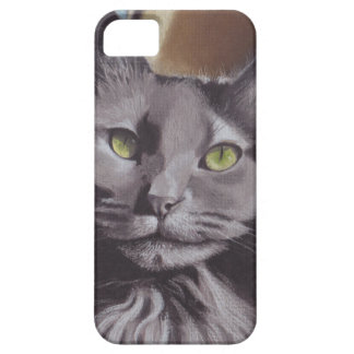 Capa Para iPhone 5 Retrato cinzento do animal de estimação do gato