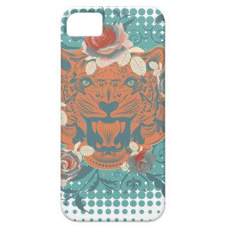 Capa Para iPhone 5 Retrato decorativo 3 do tigre