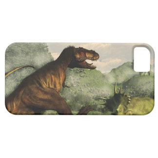 Capa Para iPhone 5 Rex do tiranossauro que luta contra o