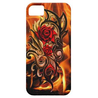 Capa Para iPhone 5 rosa do dragão do amor