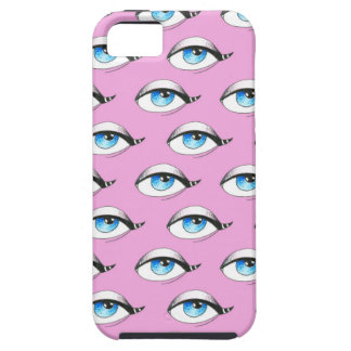Capa Para iPhone 5 Rosa do teste padrão de olhos azuis