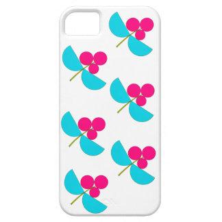 Capa Para iPhone 5 Rosa do vintage e flores de turquesa