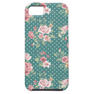 Capa Para iPhone 5 Rosas retros do vintage adorável alegre