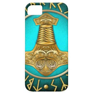 Capa Para iPhone 5 Runes - martelo dos Thors - cerceta