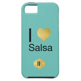 Capa Para iPhone 5 Salsa Playfully elegante do coração de I