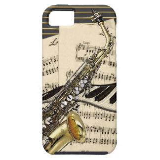 Capa Para iPhone 5 Saxofone & música do piano