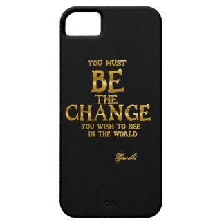 Capa Para iPhone 5 Seja a mudança - citações inspiradas da ação de