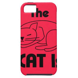 Capa Para iPhone 5 SHUSH! O gato está dormindo