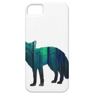 Capa Para iPhone 5 Silhueta do Fox - raposa da floresta - arte da
