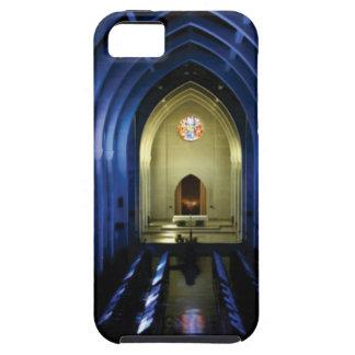 Capa Para iPhone 5 sombras da igreja azul escuro