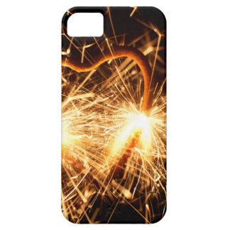 Capa Para iPhone 5 Sparkler ardente no formulário de um coração