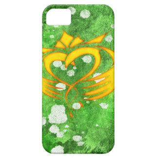 Capa Para iPhone 5 Splatter celta irlandês de Claddagh