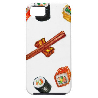 Capa Para iPhone 5 Sushi Watercolor2 ajustado
