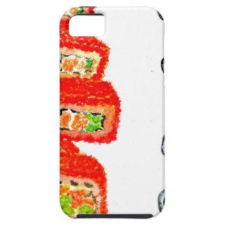 Capa Para iPhone 5 Sushi Watercolor3 ajustado