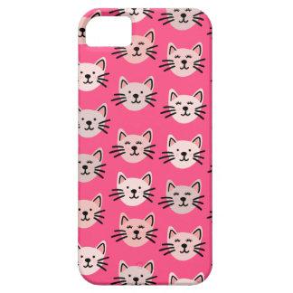 Capa Para iPhone 5 Teste padrão bonito do gato no rosa