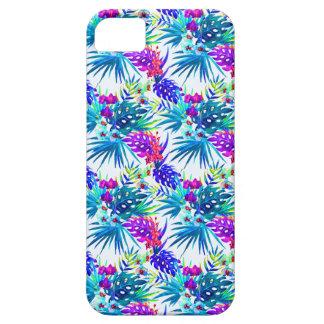 Capa Para iPhone 5 Teste padrão de flor tropical