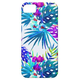 Capa Para iPhone 5 Teste padrão de flor tropical de luxe