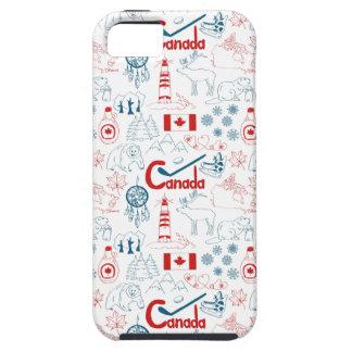 Capa Para iPhone 5 Teste padrão dos símbolos de Canadá |