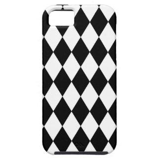 Capa Para iPhone 5 Teste padrão preto e branco do Harlequin