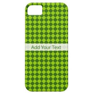 Capa Para iPhone 5 Teste padrão verde do diamante da combinação por