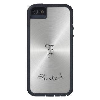 Capa Para iPhone 5 Textura lustrada circular do metal, personalizada