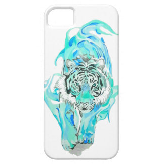 Capa Para iPhone 5 tigre azul
