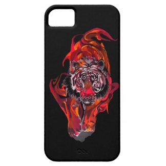 Capa Para iPhone 5 Tigre vermelho