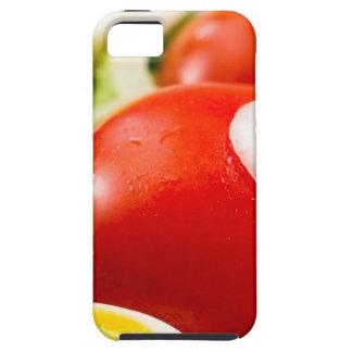 Capa Para iPhone 5 Tomates e ovos cozidos de cereja em uma salada