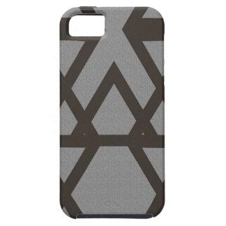 Capa Para iPhone 5 Triângulo e teste padrão das cinzas do diamante