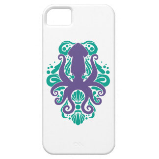 Capa Para iPhone 5 Ultravioleta do calamar do damasco no Arcadia