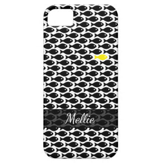 Capa Para iPhone 5 Um limão - peixe amarelo em um mar do preto no