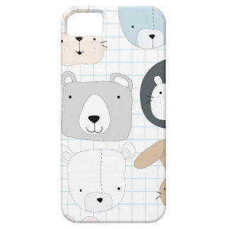 Capa Para iPhone 5 Urso, leão e coelho de ursinho animal bonito dos