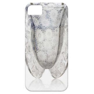 Capa Para iPhone 5 Vaso de vidro claro do art deco com flores