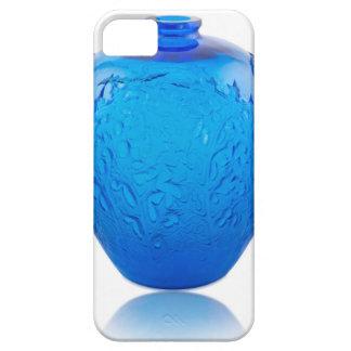 Capa Para iPhone 5 Vaso de vidro do art deco azul com folhas