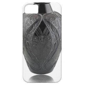 Capa Para iPhone 5 Vaso preto do lagarto de vidro do art deco
