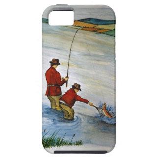 Capa Para iPhone 5 Viagem de pesca do pai e do filho